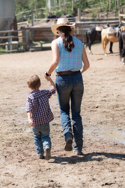 Small boy is cared for by loving staff at Drowsy Water Ranch