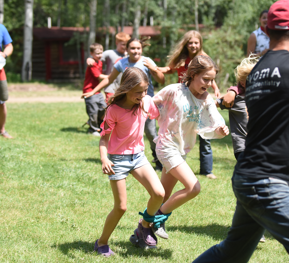 three-legged race game for kids and adults